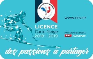 Commande de licence 2018/2019