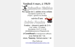 Animation Biathlon / Fondue